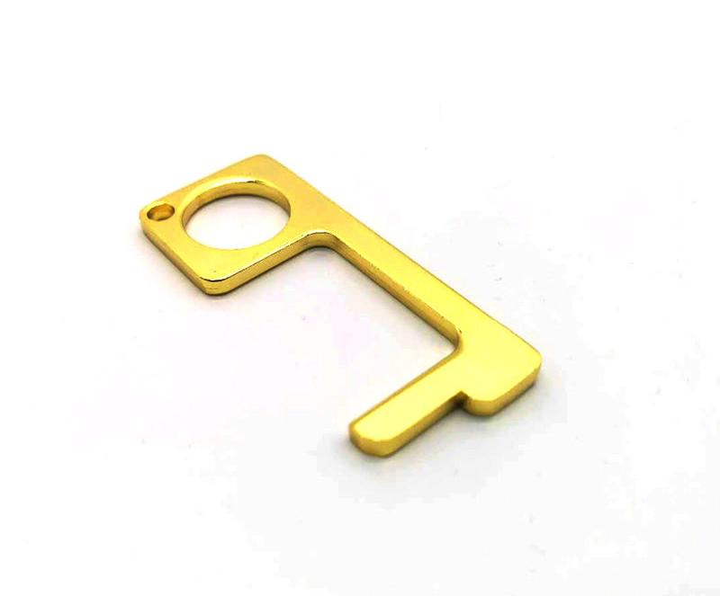 Keychain hygenic stylus hygiene hand EDC Door Opener with Retractable Carabiner